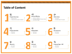 Building Assembly Conservation Solutions Table Of Content Ppt Infographics Design Ideas PDF