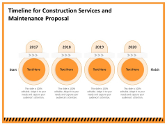 Building Assembly Conservation Solutions Timeline For Construction Services And Maintenance Proposal Sample PDF