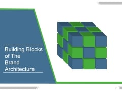 Building Blocks Of The Brand Architecture Ppt PowerPoint Presentation Samples