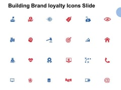 Building Brand Loyalty Icons Slide Vision Ppt PowerPoint Presentation Infographics Objects