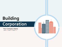 Building Corporation Silhouette Briefcase Icon Ppt PowerPoint Presentation Complete Deck