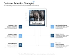 Building Customer Experience Strategy For Business Customer Retention Strategies Icons PDF