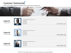 Building Customer Experience Strategy For Business Customer Testimonials Introduction PDF