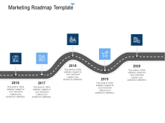 Building Customer Experience Strategy For Business Marketing Roadmap Template Graphics PDF
