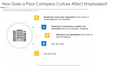 Building Efficient Work Environment How Does A Poor Company Culture Affect Employees Demonstration PDF