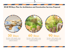 Building Engineering Services Proposal 30 60 90 Days Plan For Architecture And Construction Services Proposal Brochure PDF