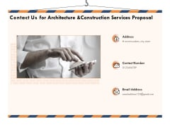Building Engineering Services Proposal Contact Us For Architecture And Construction Services Proposal Infographics PDF