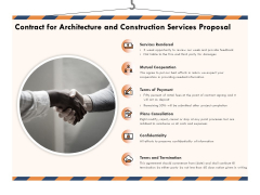Building Engineering Services Proposal Contract For Architecture And Construction Services Proposal Diagrams PDF