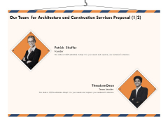 Building Engineering Services Proposal Our Team For Architecture And Construction Services Proposal Teamwork Designs PDF