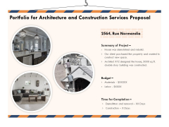 Building Engineering Services Proposal Portfolio For Architecture And Construction Services Proposal Graphics PDF