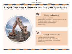 Building Engineering Services Proposal Project Overview Sitework And Concrete Foundation Portrait PDF