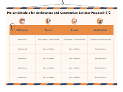 Building Engineering Services Proposal Project Schedule For Architecture And Construction Services Proposal Design Professional PDF