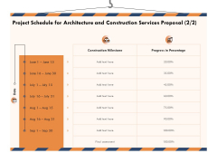 Building Engineering Services Proposal Project Schedule For Architecture And Construction Services Proposal Designs PDF