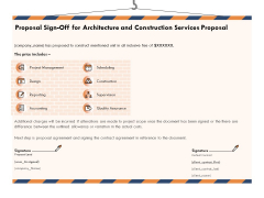 Building Engineering Services Proposal Proposal Sign Off For Architecture And Construction Services Proposal Rules PDF