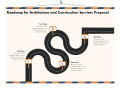 Building Engineering Services Proposal Roadmap For Architecture And Construction Services Proposal Structure PDF