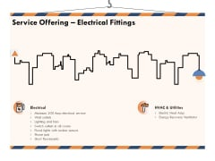 Building Engineering Services Proposal Service Offering Electrical Fittings Icons PDF