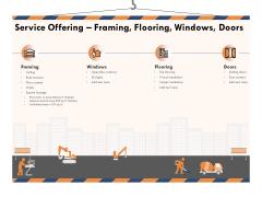 Building Engineering Services Proposal Service Offering Framing Flooring Windows Doors Demonstration PDF