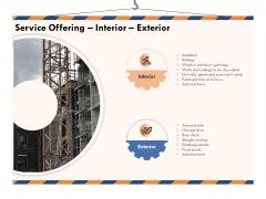 Building Engineering Services Proposal Service Offering Interior Exterior Mockup PDF