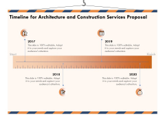 Building Engineering Services Proposal Timeline For Architecture And Construction Services Proposal Background PDF