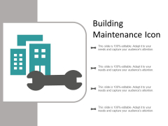 Building Maintenance Icon Ppt Powerpoint Presentation Slides Infographics