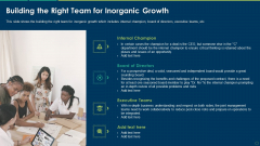 Building The Right Team For Inorganic Growth Ppt Styles Backgrounds PDF