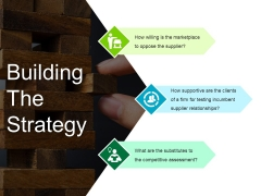 Building The Strategy Ppt PowerPoint Presentation Portfolio Background