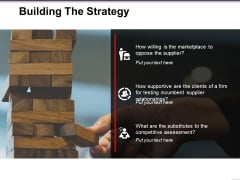 Building The Strategy Ppt PowerPoint Presentation Slides Icons