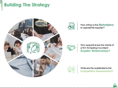 Building The Strategy Ppt PowerPoint Presentation Summary