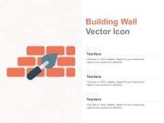 Building Wall Vector Icon Ppt PowerPoint Presentation Portfolio Graphics