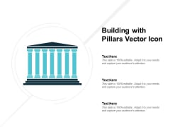 Building With Pillars Vector Icon Ppt PowerPoint Presentation Model Portrait