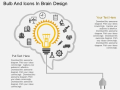 Bulb And Icons In Brain Design Powerpoint Template