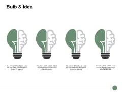 Bulb And Idea Innovation Technology Ppt PowerPoint Presentation Pictures Images