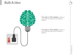 Bulb And Idea Ppt PowerPoint Presentation Deck