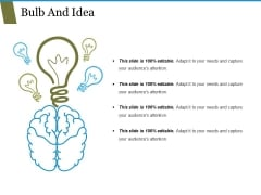 Bulb And Idea Ppt PowerPoint Presentation File Templates