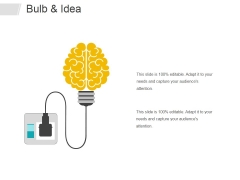 Bulb And Idea Ppt PowerPoint Presentation Ideas Files