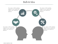 Bulb And Idea Ppt PowerPoint Presentation Samples