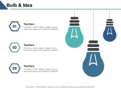 Bulb And Idea Technology Innovation Ppt PowerPoint Presentation Inspiration Template