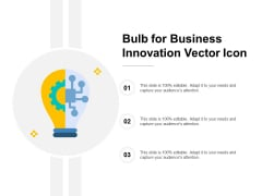 Bulb For Business Innovation Vector Icon Ppt Powerpoint Presentation Infographic Template Picture