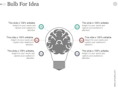 Bulb For Idea Ppt PowerPoint Presentation Inspiration