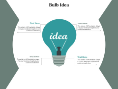 Bulb Idea Technology Ppt Powerpoint Presentation Pictures Structure Cpb