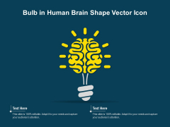 Bulb In Human Brain Shape Vector Icon Ppt PowerPoint Presentation Visual Aids Outline PDF