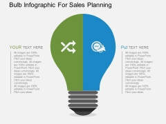 Bulb Infographic For Sales Planning Powerpoint Templates