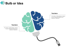 Bulb Or Idea Business Technology Ppt PowerPoint Presentation Visual Aids Infographic Template
