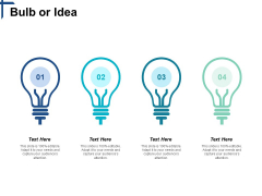 Bulb Or Idea Competitive Differentiation Ppt PowerPoint Presentation Summary Guidelines