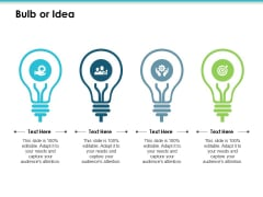 Bulb Or Idea Employee Value Proposition Ppt PowerPoint Presentation Model Display