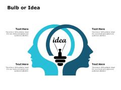 Bulb Or Idea Innovation Management Ppt PowerPoint Presentation Slides Graphics Tutorials