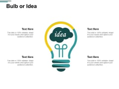 Bulb Or Idea Innovation Management Ppt PowerPoint Presentation Styles Files