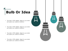 Bulb Or Idea Innovation Ppt PowerPoint Presentation Gallery Icon