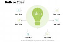 Bulb Or Idea Innovation Ppt PowerPoint Presentation Icon Sample