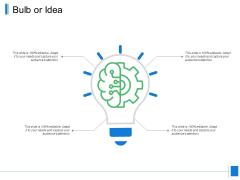 Bulb Or Idea Innovation Ppt PowerPoint Presentation Icon Smartart